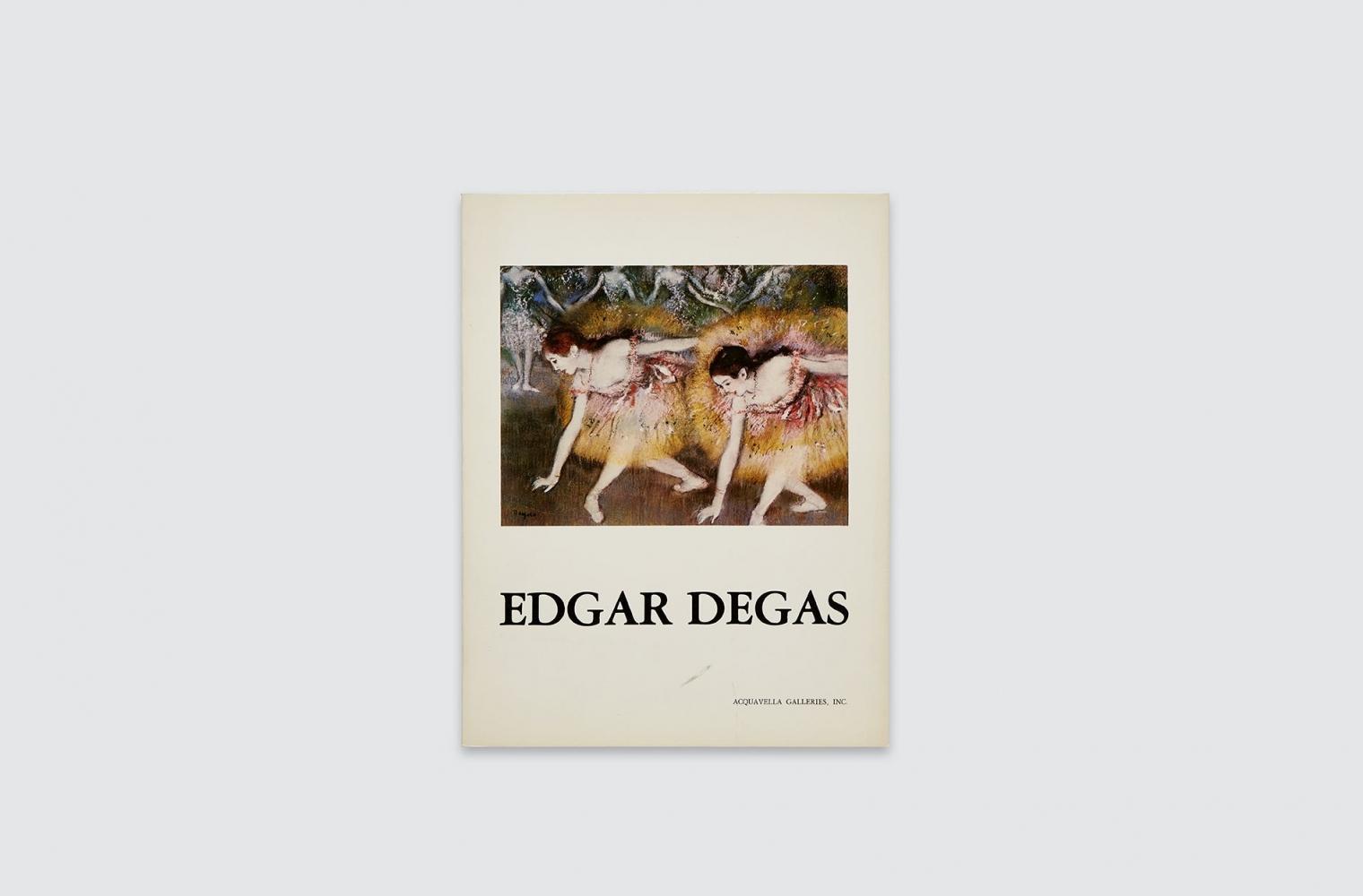Catalogue for Degas