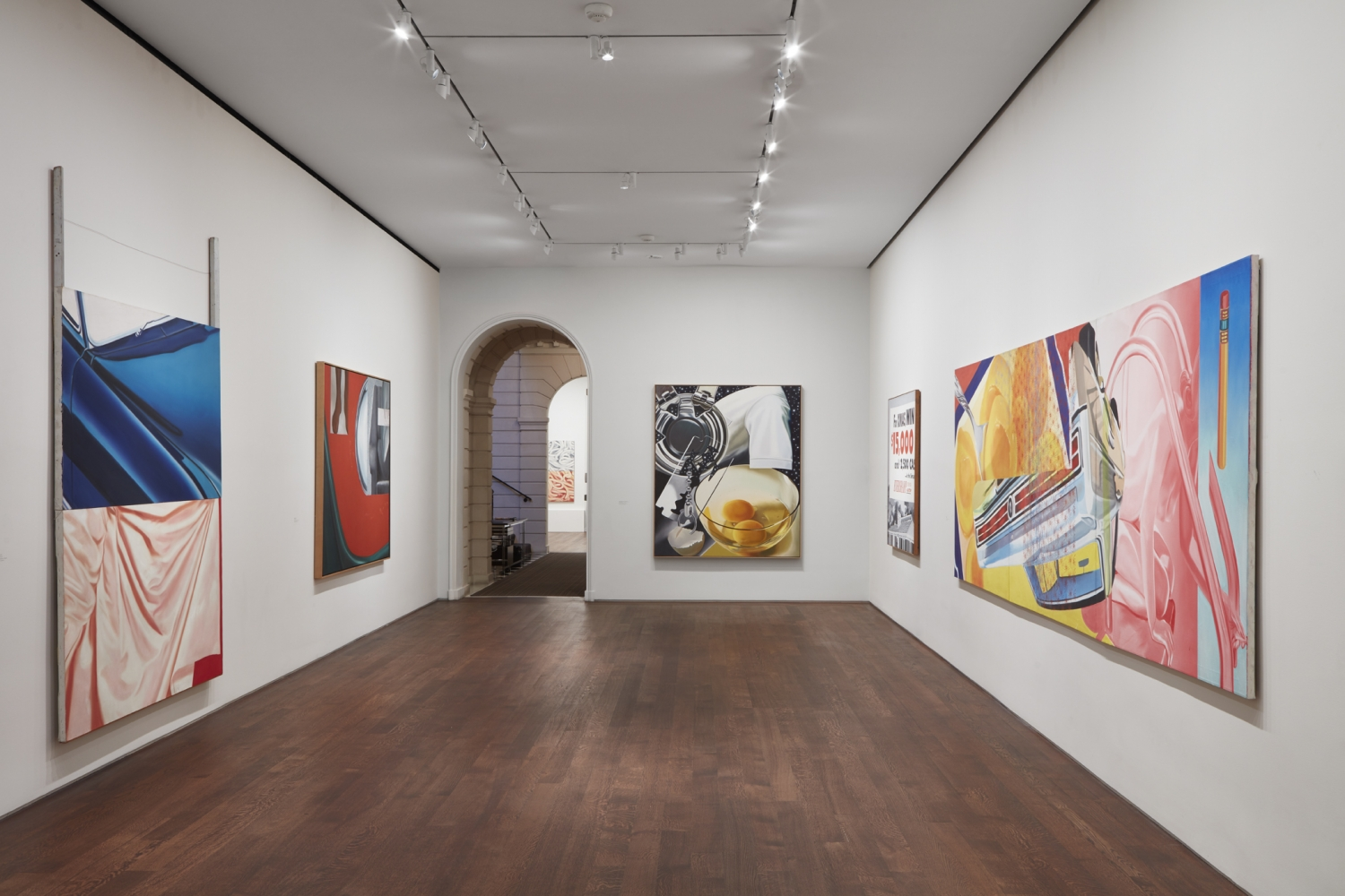 Installation view of James Rosenquist: His American Life, October 25 - December 7, 2018. © Estate of James Rosenquist / Licensed by VAGA at ARS, New York.