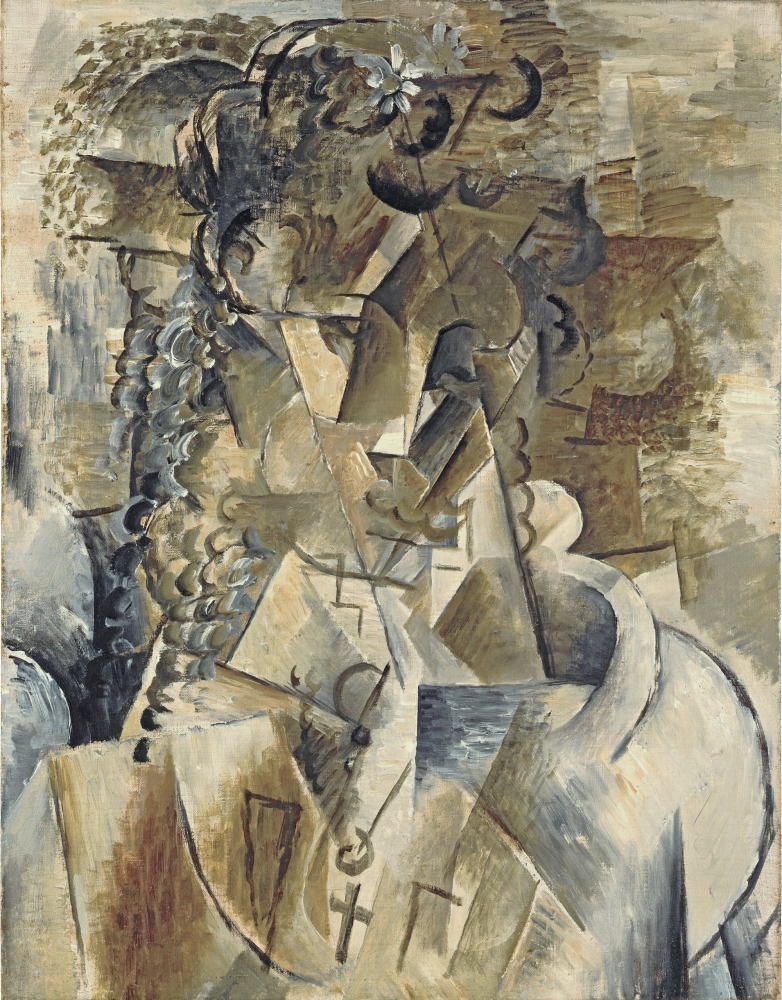 Georges Braque  Girl with a Cross, 1911