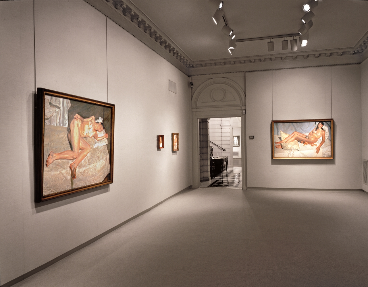 Installation view of Lucian Freud: Recent Work, April 10 - May 19, 2000. Art © The Lucian Freud Archive / Bridgeman Images.