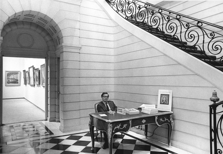 Bill Acquavella at Four Masters of Impressionism, 1968