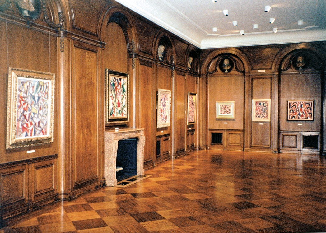Installation view of Fernand Léger exhibition, fall 1987.