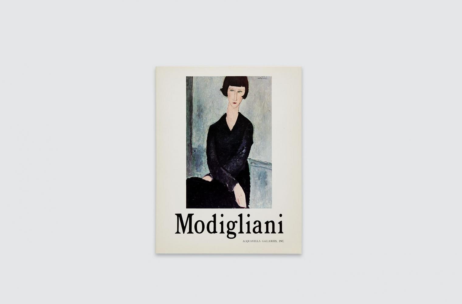 Catalogue for Amedeo Modigliani exhibition, fall 1971.