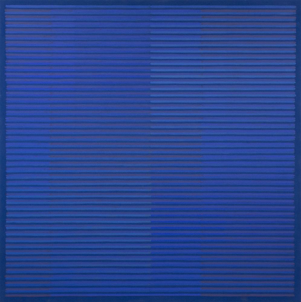 "BLUE (FLOW) 2015  Acrylic on canvas,  36 x 36"""
