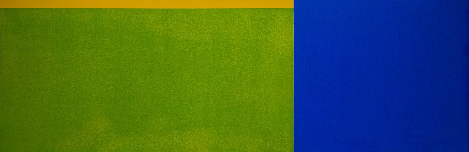 """PAINTING 14-VI-17 2017 Acrylic on canvas, 27 x 81""""  Private Collection"""