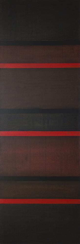 """24-IX-17, 2017 Acrylic on canvas, 81 x 27"""""""