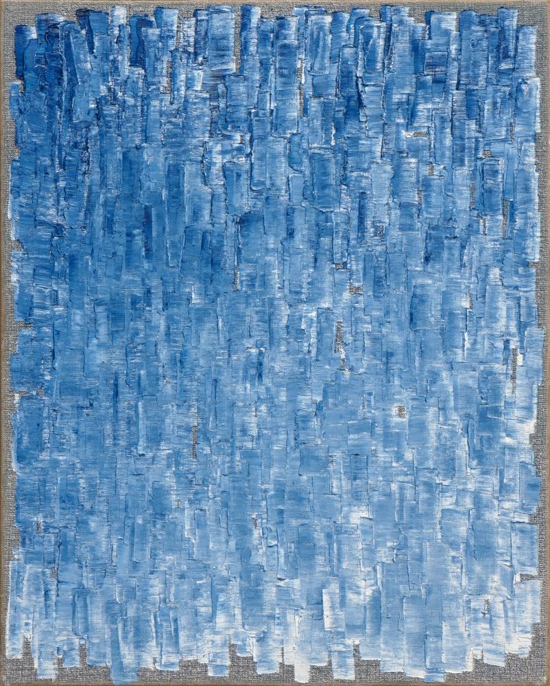 Ha Chong-Hyun (b. 1935) Conjunction 20-71, 2020 Oil on hemp cloth 63.78 x 51.18 inches 162 x 130 cm