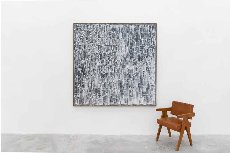 Ha Chong-Hyun (b. 1935)  Conjunction 21-09, 2021  Oil on hemp cloth  70.87 x 70.87 inches  180 x 180 cm