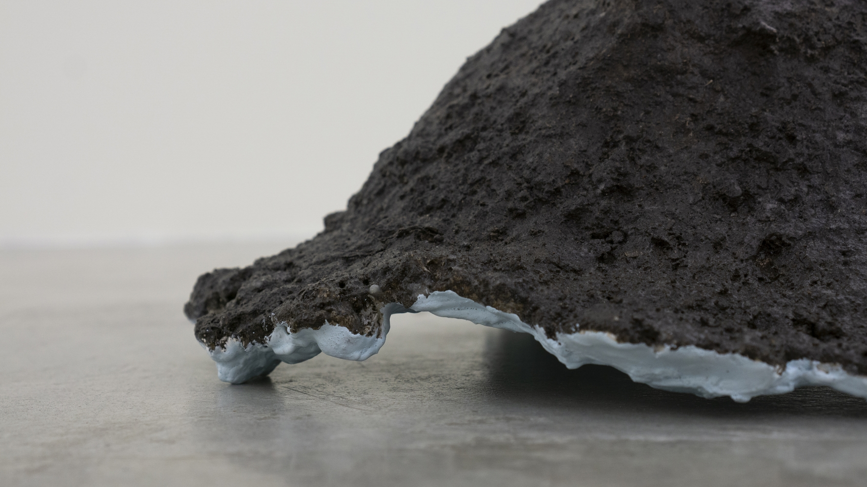 Tania Pérez Córdova (b. 1979) Short Sight Box - Hole C, 2020 Imprint of a hole dug in a field, earth, plant roots, plaster, mesh, enamel paint 17 x 14.5 x 7.5 inches 43.2 x 36.8 x 19.1 cm