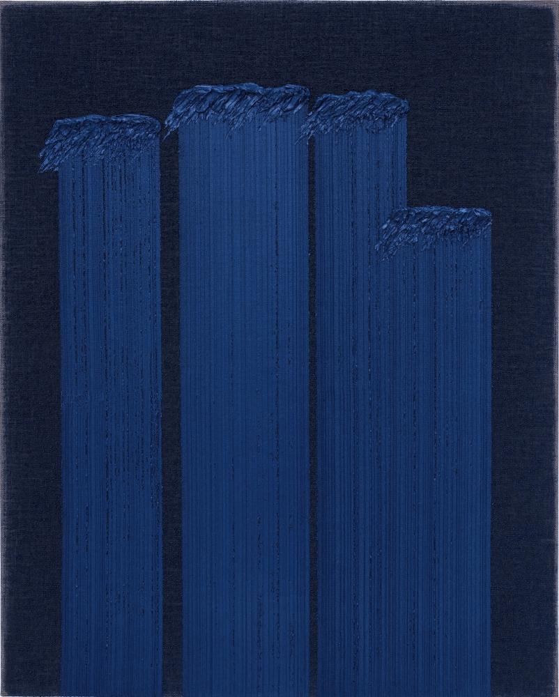 Ha Chong-Hyun (b. 1935) Conjunction 19-32, 2019 Oil on hemp cloth 63.78 x 51.18 inches 162 x 130 cm