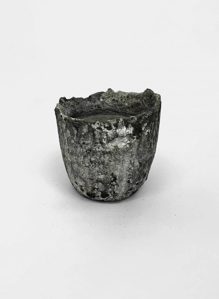 Tania Pérez Córdova (b. 1979) Iron Rain, 2020 Graphite crucible, zinc 11.02 x 11.02 x 10.63 inches 28 x 28 x 27 cm