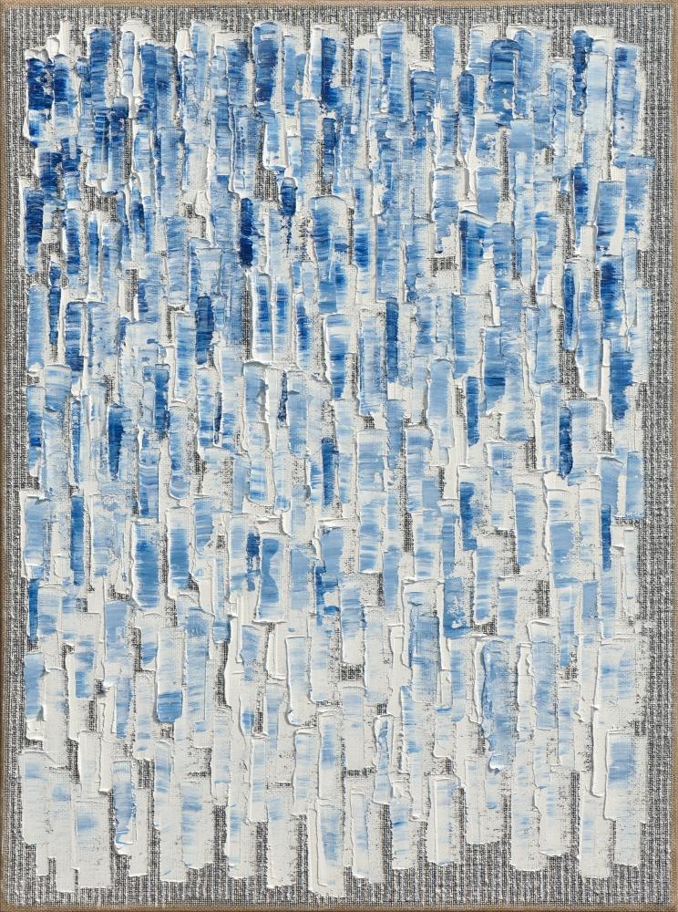Ha Chong-Hyun (b. 1935) Conjunction 20-61, 2020 Oil on hemp cloth 51.3 x 38.19 inches 130.3 x 97 cm