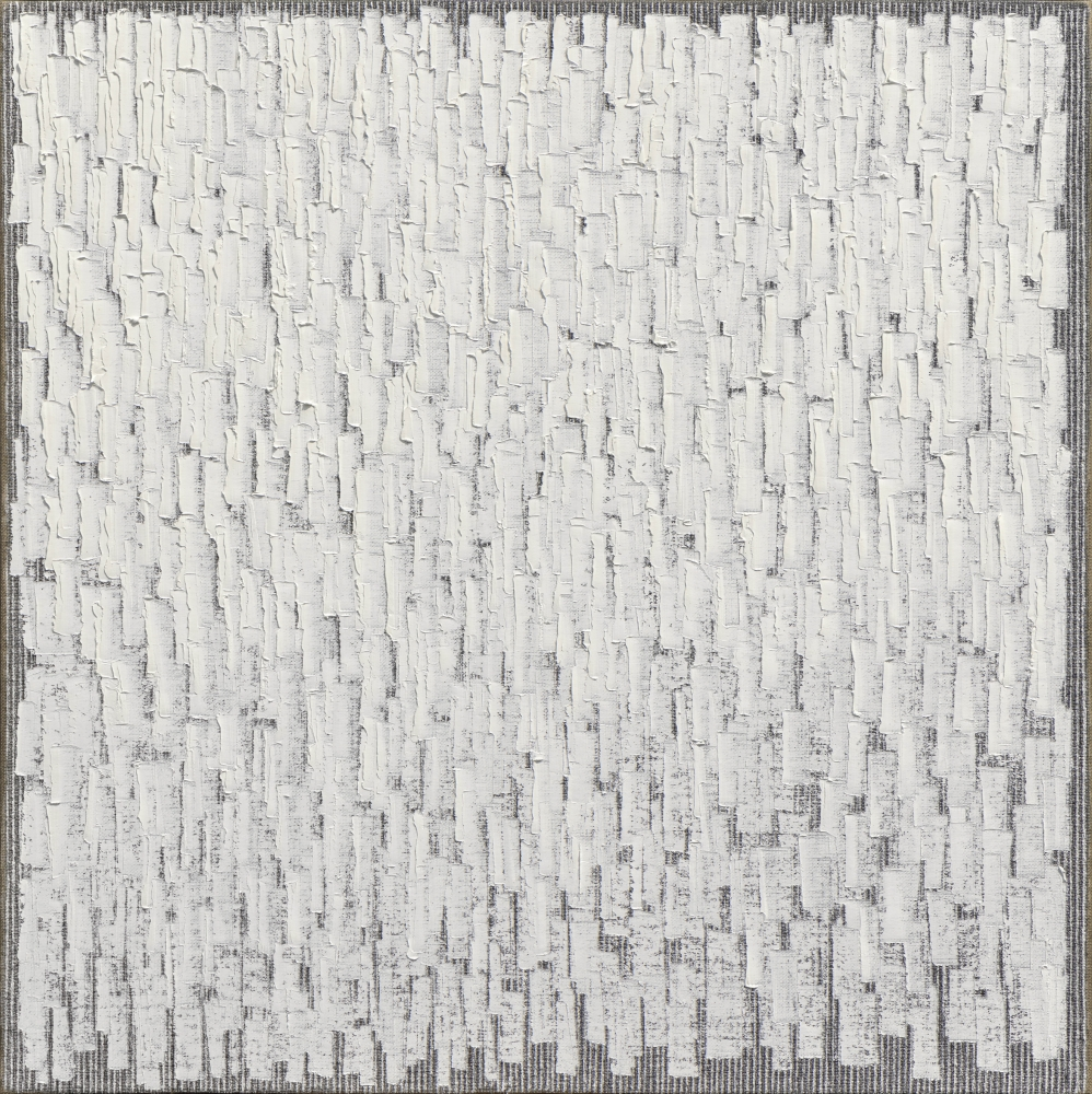 Ha Chong-Hyun (b. 1935) Conjunction 20-77, 2020 Oil on hemp cloth 70.87 x 70.87 inches 180 x 180 cm