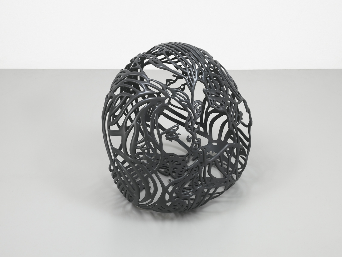 Baisers 1 by Ghada Amer, 2011-12, Black Painted bronze, Sculpture, Tina Kim Gallery