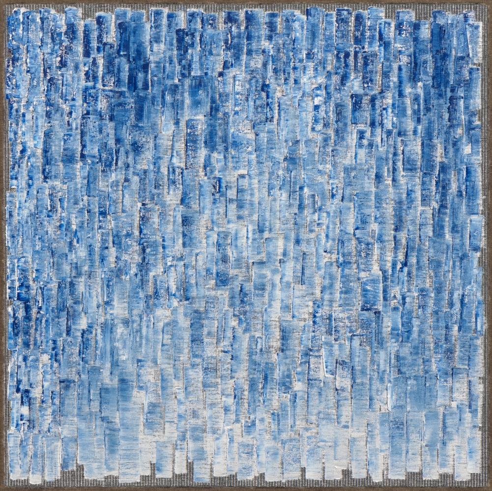 Ha Chong-Hyun (b. 1935) Conjunction 21-10, 2021 Oil on hemp cloth 70.87 x 70.87 inches 180 x 180 cm
