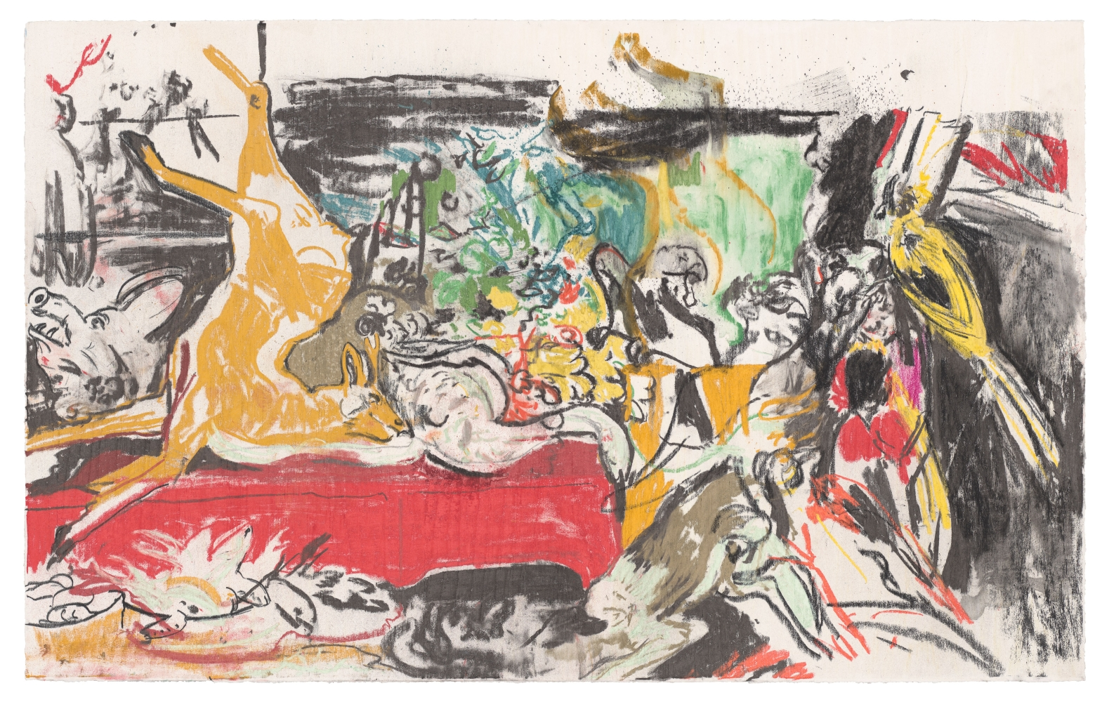 Cecily Brown, Untitled (Nature Morte after Frans Snyders) , 2020