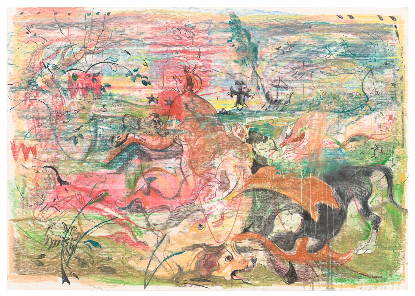 Cecily Brown, Untitled (The Calls of the Hunting Horn), 2019