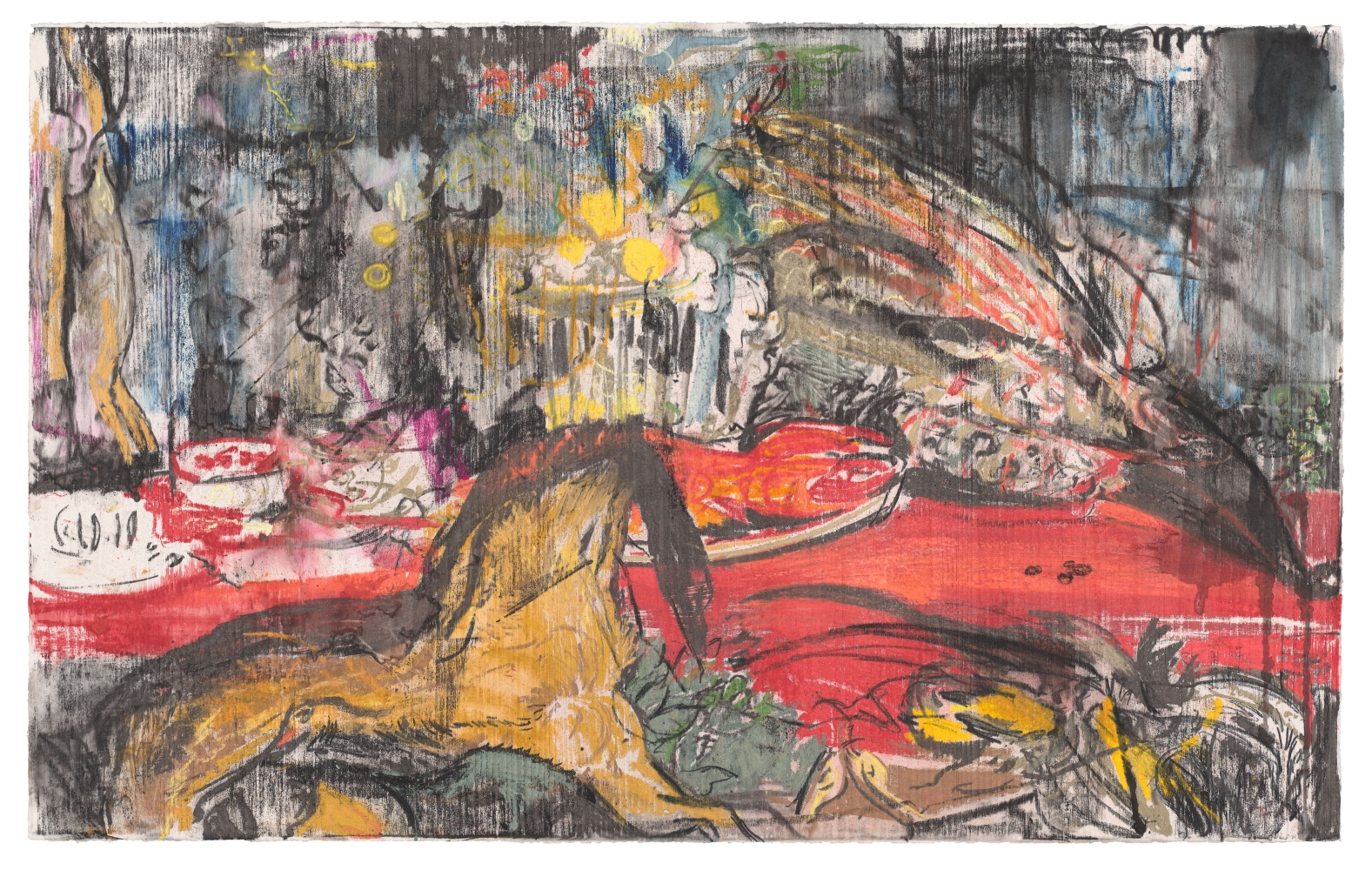 Cecily Brown, Untitled (Nature Morte after Frans Snyders), 2020