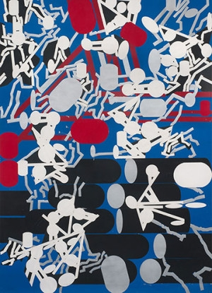 Diagrammatic Silhouette: Sculptured Activities (Choke Off), 1985