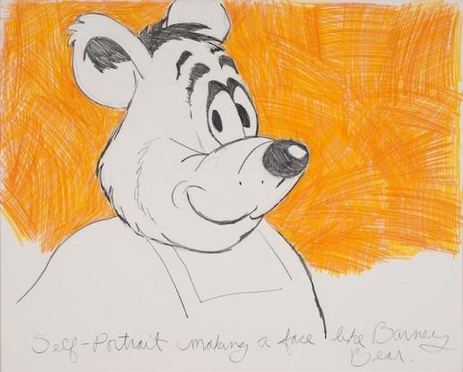 Self-Portrait Making a Face Like Barney Bear, 1975