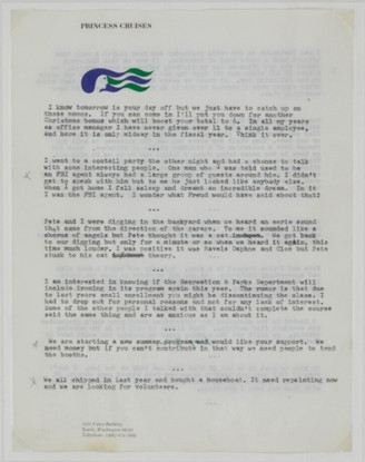 """Untitled (""""I know tomorrow is your day off...""""), 1970-71"""
