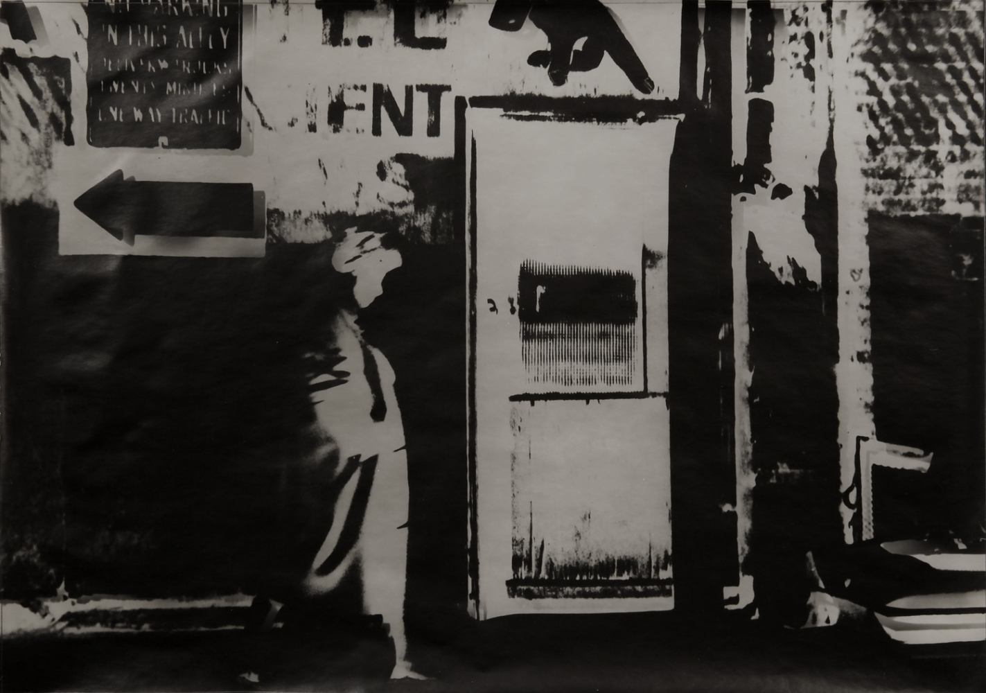 Venice Alley, 1963  Silver gelatin print  14 x 19 Inches