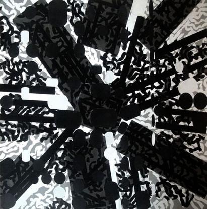 Diagrammatic Silhouette: Sculptured Activities (Black Stress), 1987