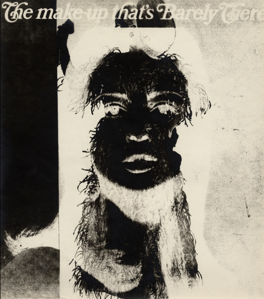 Are You Rea, (The Makeup That is Barely There) 9-4,1966    Gelatin silver photogram from magazine page  10 1/4  x 9 Inches