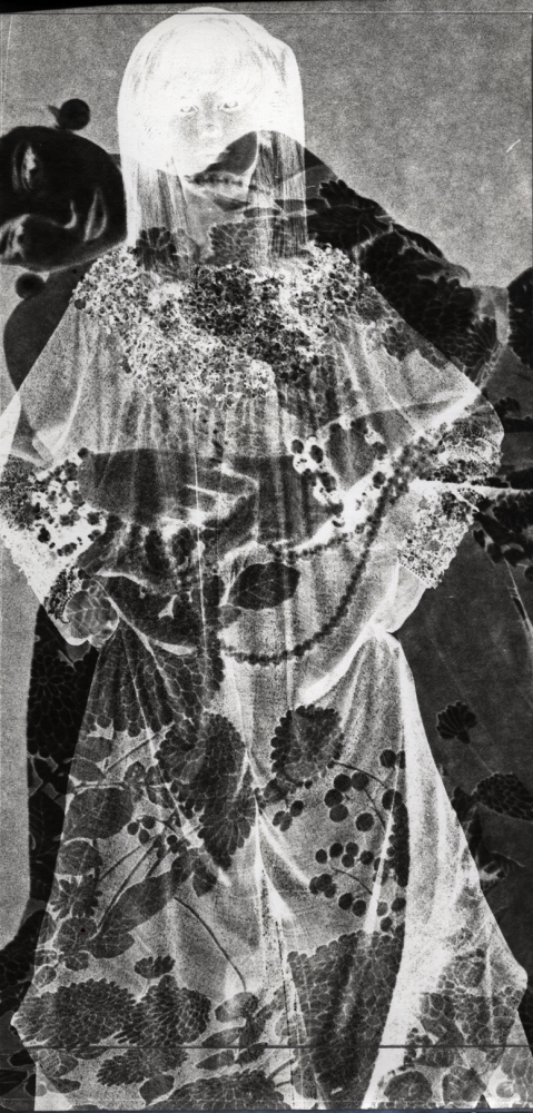 Are You Rea, 1967  Gelatin silver photogram from magazine page  5 1/2 x 11 inches
