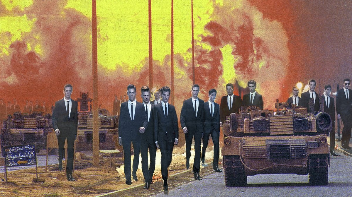 """Martha Rosler  Invasion, from the series """"House Beautiful: Bringing the War Home, New Series"""", 2008"""