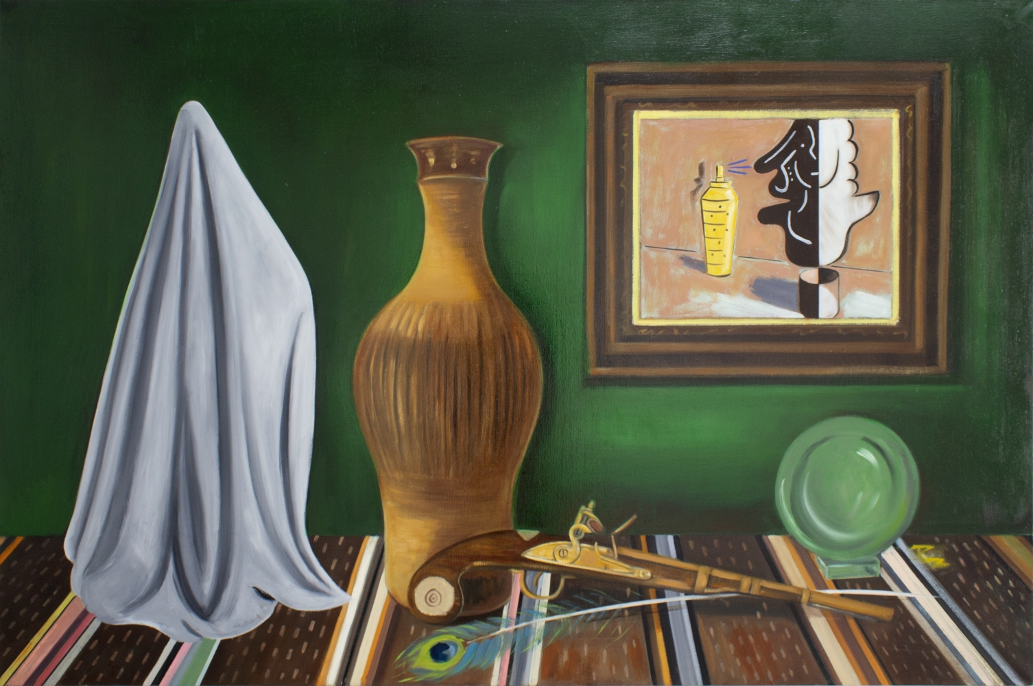 Raul Guerrero, Still Life with Sarape and Crystal Ball, 2012