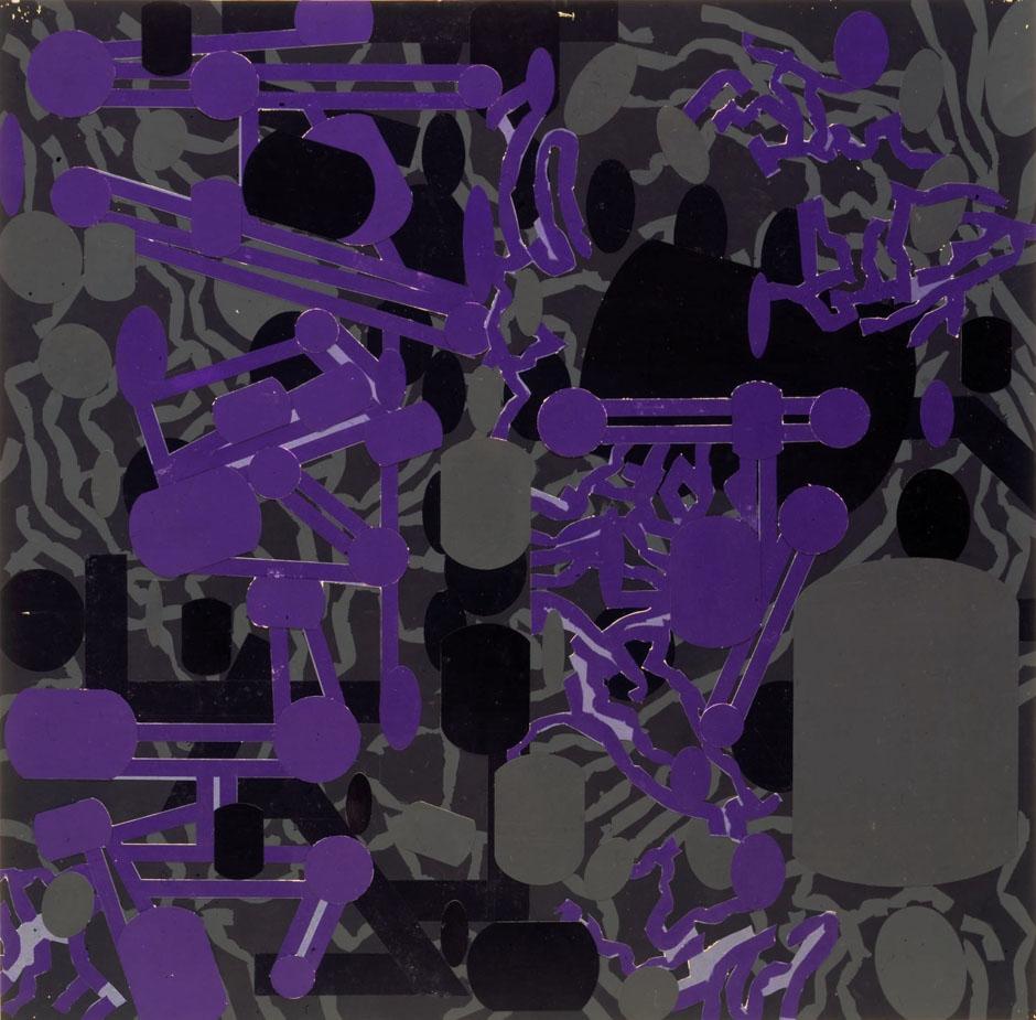 Diagrammatic Silhouettes: Sculptured Activities (Purple), 1986
