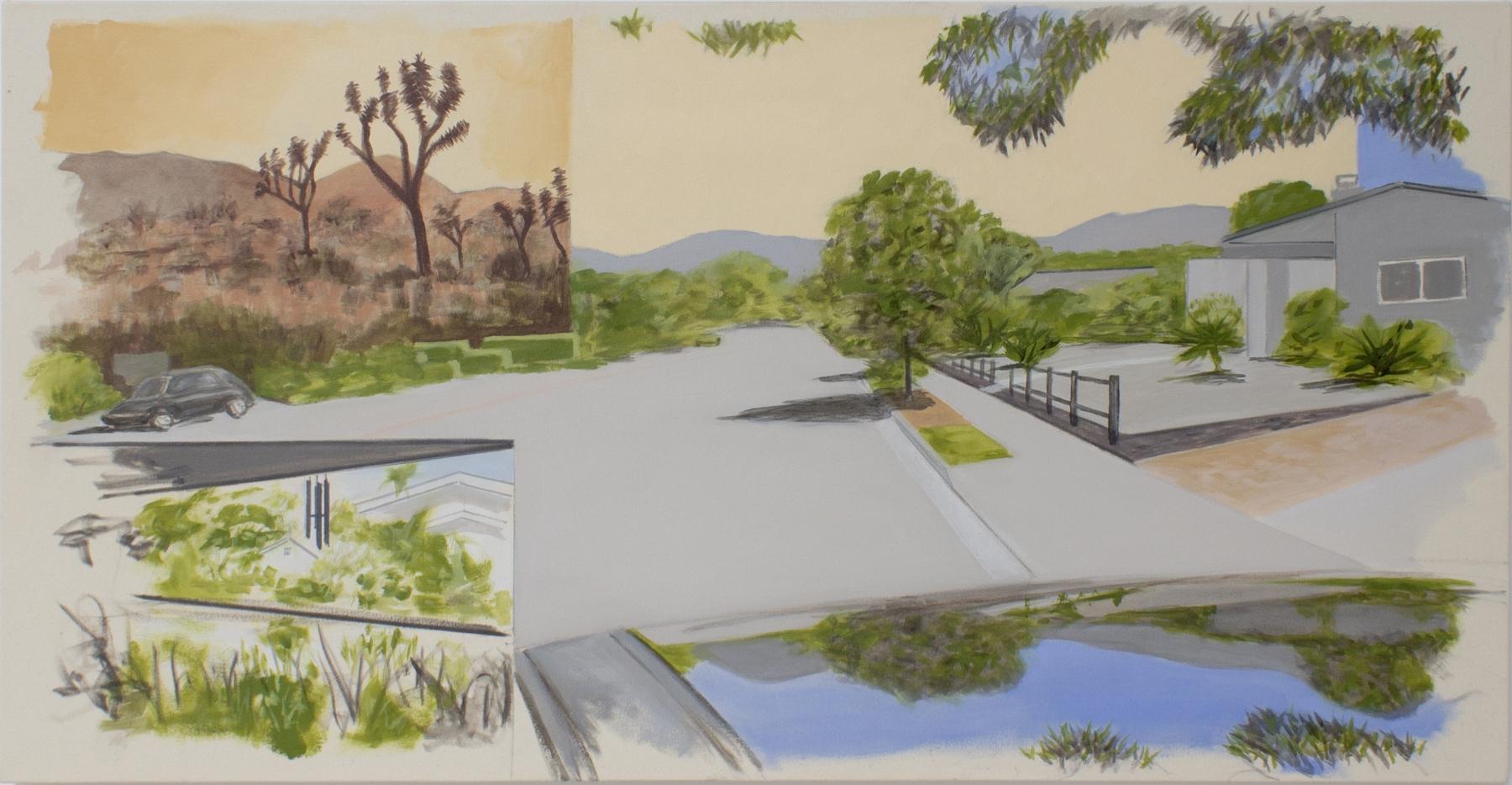William Leavitt, Garden, Joshua Trees, Street, Reflection, 2020