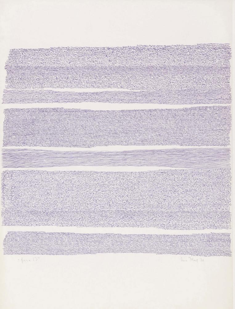 Irma Blank  Eigenschriften, Spazio 63, 1971