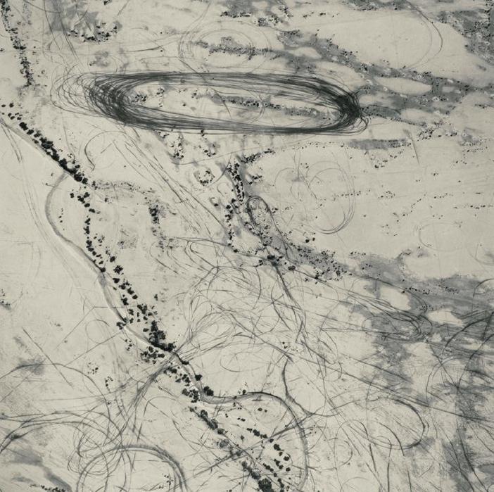 Off Road Traffic Pattern, Along the Northwest Shore of the Great Salt Lake, Utah, 1988