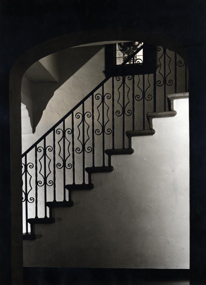 Dark Stairway, 1965  Silver gelatin print  15 1/2 x 11 1/8 inches