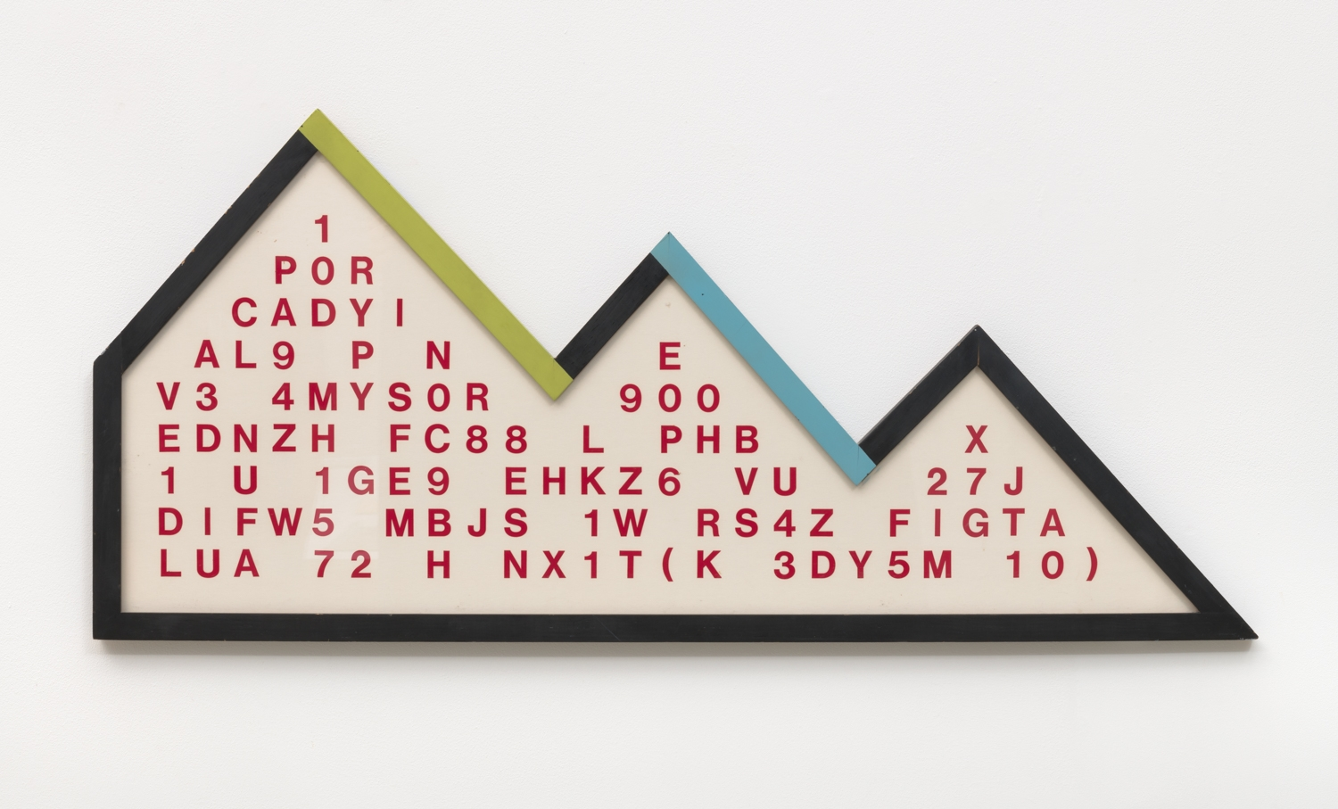 """Guy de Cointet  Lost at Sea (""""...from a lagoon to another""""), 1975"""