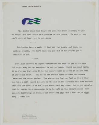 """Untitled (The doctor said your heart was good...""""), 1970-71"""