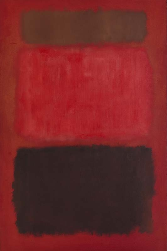 Mark Rothko Browns and Blacks in Reds 1957 oil on canvas 91 x 60 inches (231.1 x 152.4 cm)  Private collection