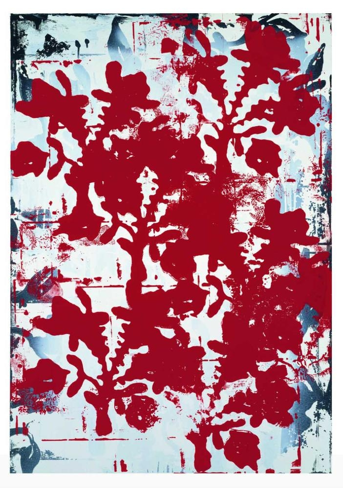 Christopher Wool Untitled 1993 enamel on aluminum 43 x 30 inches (109.2 x 76.2 cm)  Courtesy the Brant Foundation, Greenwich, CT