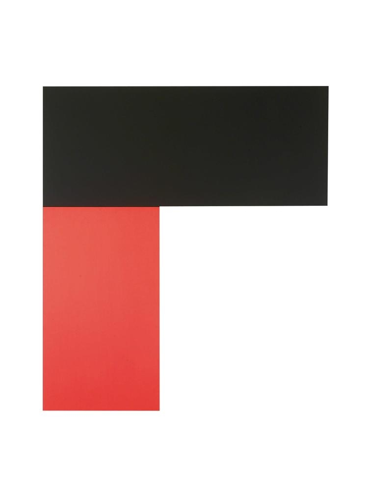 Ellsworth Kelly Chatham X: Black Red 1971 oil on canvas 108 x 95 3/4 inches (274.3 x 243.2 cm)  Private collection