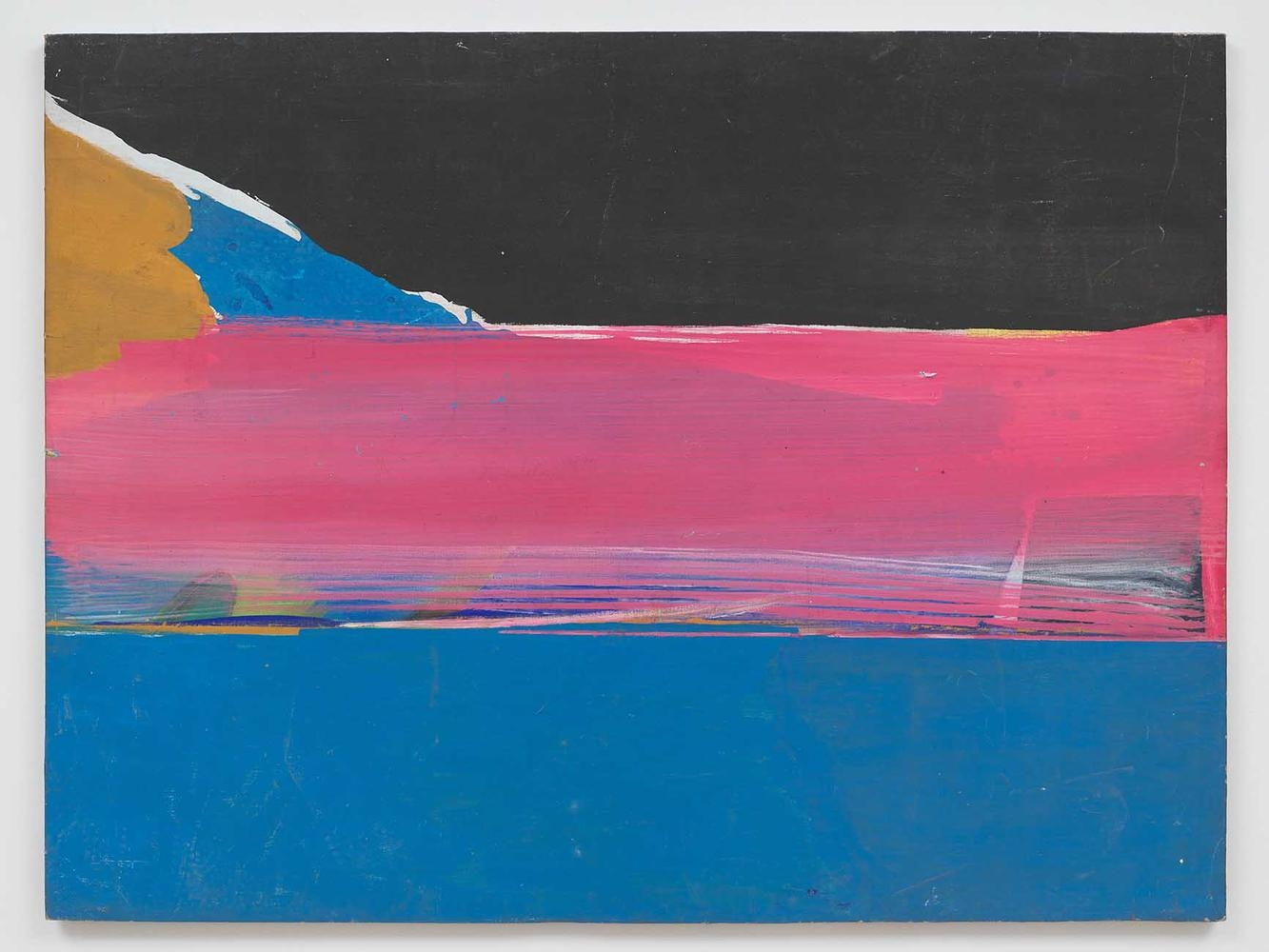 Ed Clark  Flash  1966  acrylic on canvas  44 x 58 1/2 inches (111.8 x 149.2 cm)