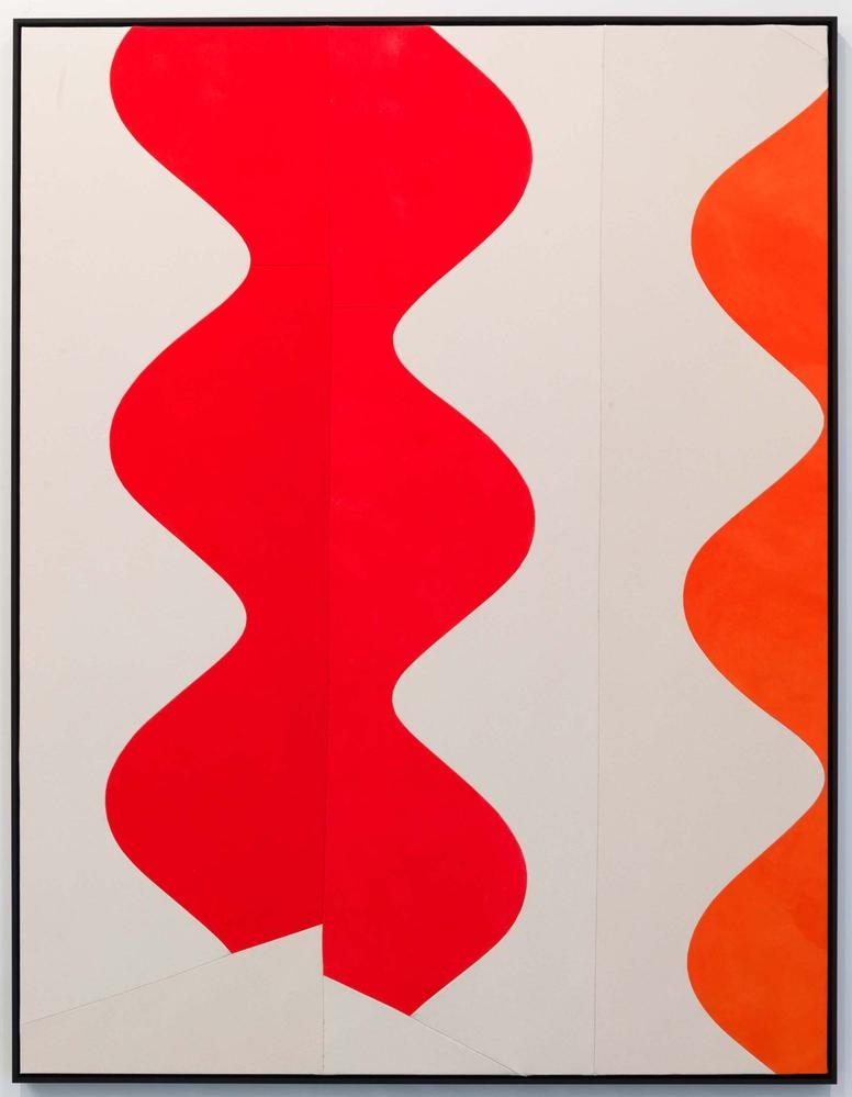 Sarah Crowner The Wave (Urszula) 2014 acrylic on sewn canvas with painted wooden frame 78 x 60 inches (198.1 x 152.4 cm)
