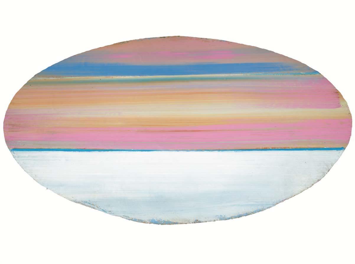 Ed Clark  Intarsia  1970  acrylic on canvas  119 1/2 x 219 1/2 inches (303.5 x 557.5 cm)