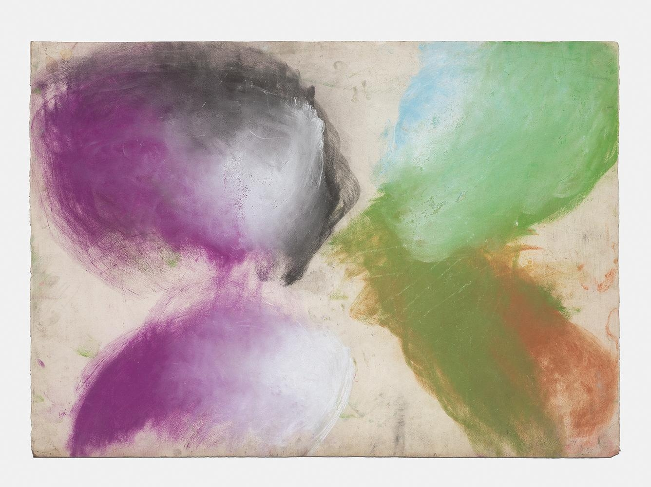 Ed Clark Untitled 2001 dry pigment on paper 29 1/4 x 41 1/2 inches (74.3 x 105.4 cm)