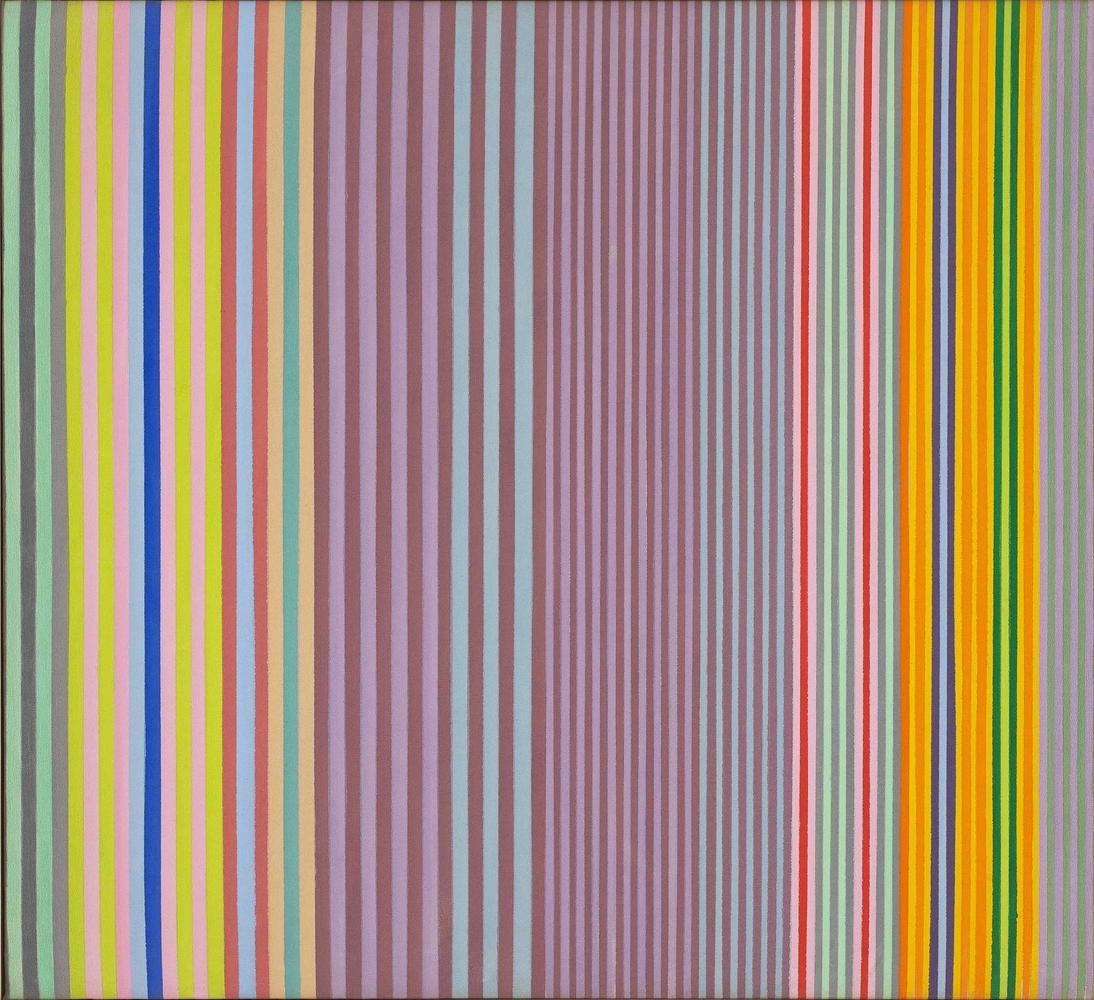 Gene Davis Apple Jack 1970 acrylic on canvas 33 x 34 inches (83.8 x 86.4 cm)