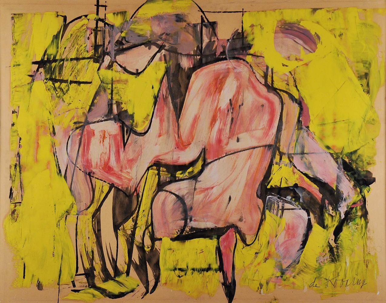 Willem de Kooning Red Torso circa 1948-49 oil on paper 18 x 23 1/4 inches (45.7 x 59.1 cm)
