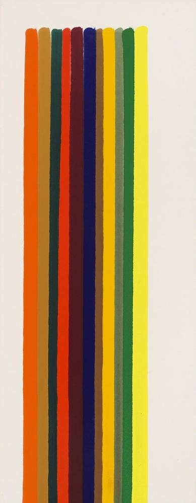 Morris Louis  Mira  1962  acrylic resin (Magna) on canvas  82 1/2 x 33 inches (209.6 x 83.8 cm)