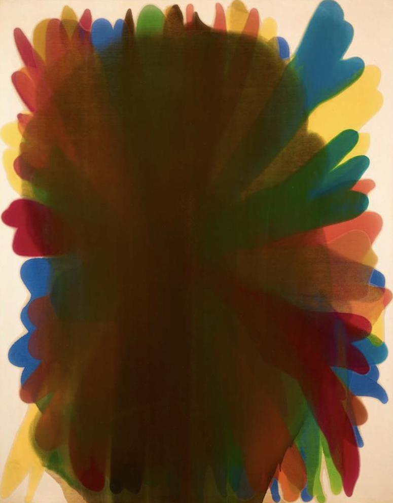 Morris Louis Aleph Series V 1960 acrylic resin (Magna) on canvas 104 3/4 x 82 inches (266.1 x 208.3 cm)