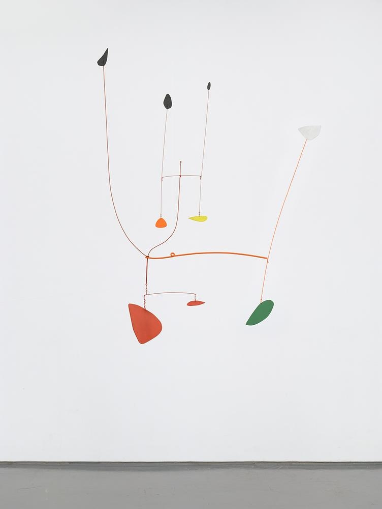 Alexander Calder Untitled 1939 painted sheet metal, metal rods, and wire 56 x 46 x 24 inches (142.2 x 116.8 x 61 cm)